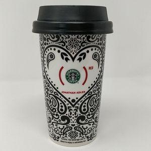 Starbucks 2010 Jonathan Adler RED Paisley Tumber